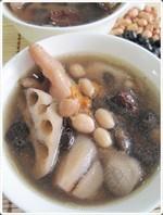 Lotus, Peanut & Chicken Feet Soup